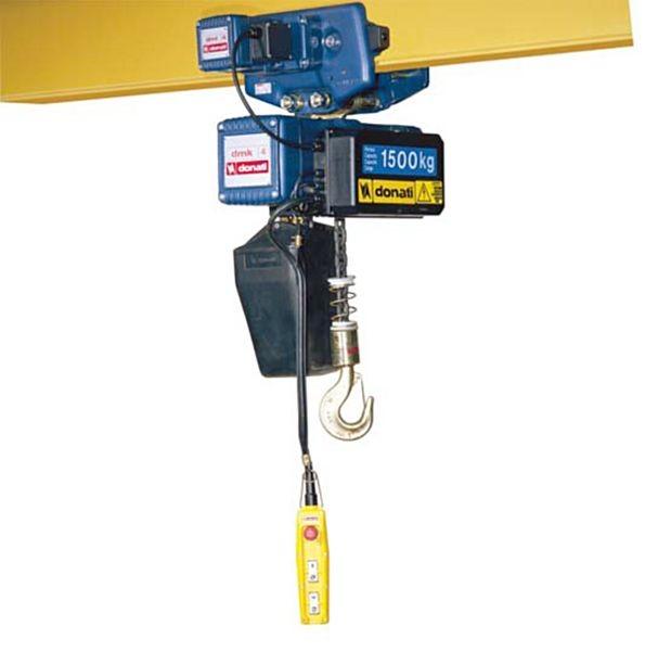 Piana paranco elettrico a catena con carrello elettrico 1 for Paranco elettrico 1000 kg