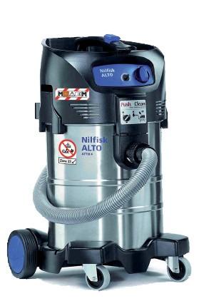 5 SACCHI Filtro Per Nilfisk ATTIX 40-0m PC type 22 Sacchetto per aspirapolvere Type 22